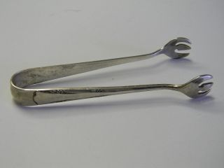 Antique Gorham Sterling Silver Sugar Serving Tongs photo