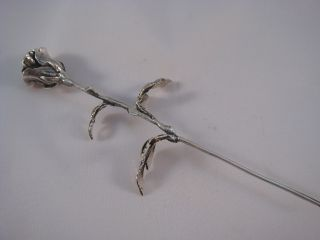 925 Sterling Silver Flower Rose.  Gift photo