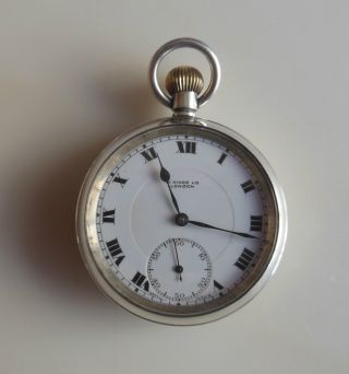 Solid Silver (. 925) Old Pocket Watch - W.  Hinds Ltd London - Working photo