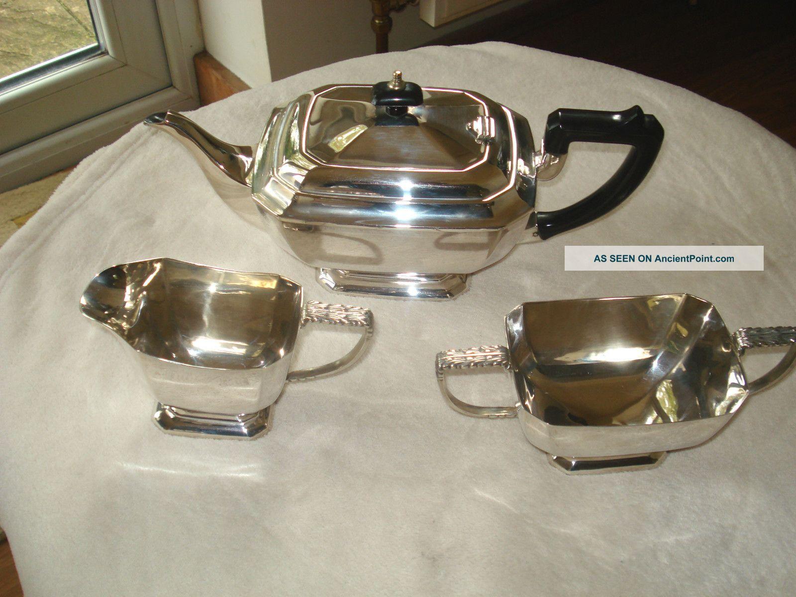 Excellent Vintage Silver Plated Tea Service Tea/Coffee Pots & Sets photo
