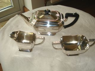 Excellent Vintage Silver Plated Tea Service photo