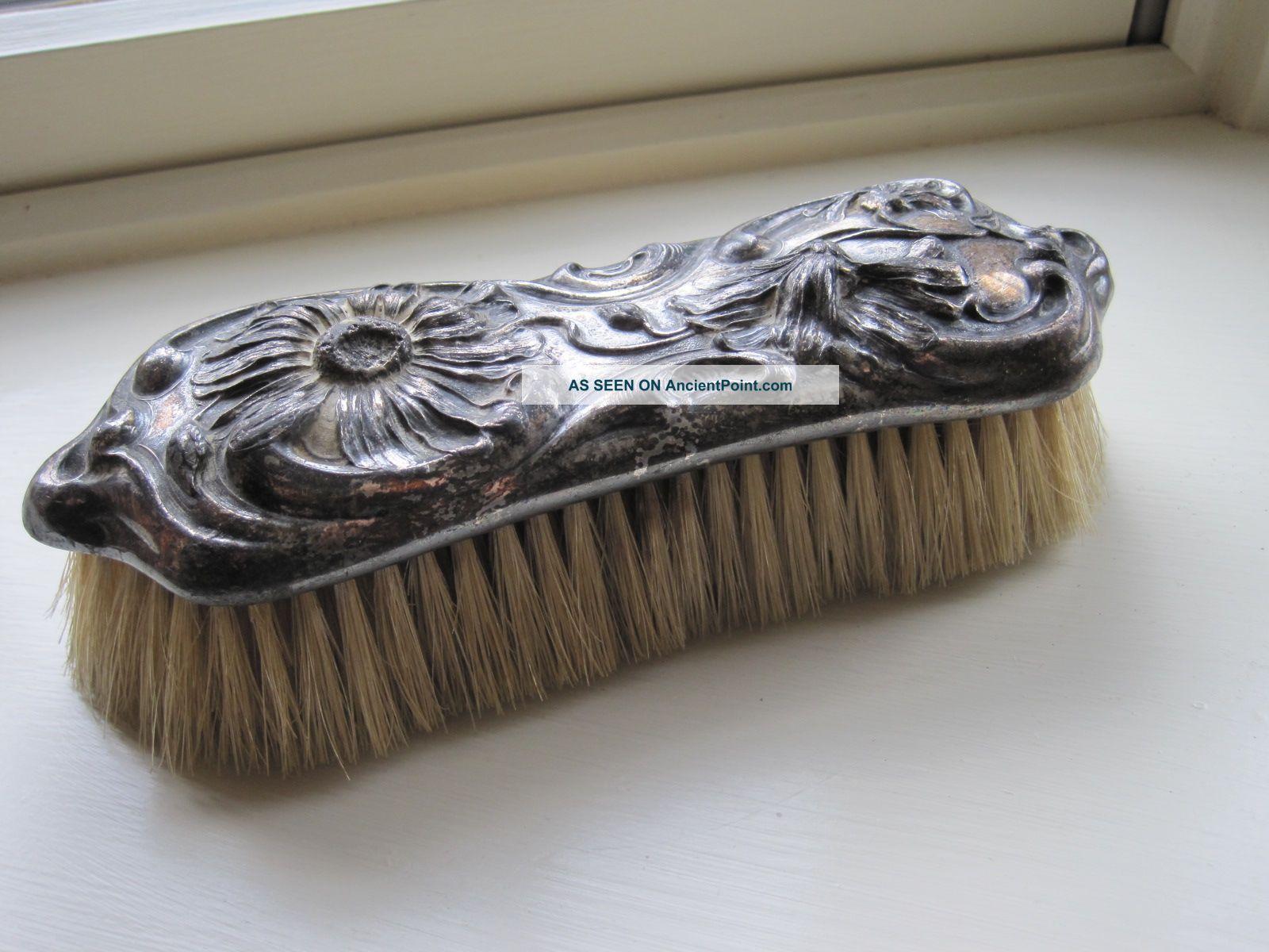 Antique Art Nouveau Silver Clothes Brush Derby Silver Co. Other photo