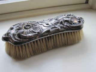 Antique Art Nouveau Silver Clothes Brush Derby Silver Co. photo
