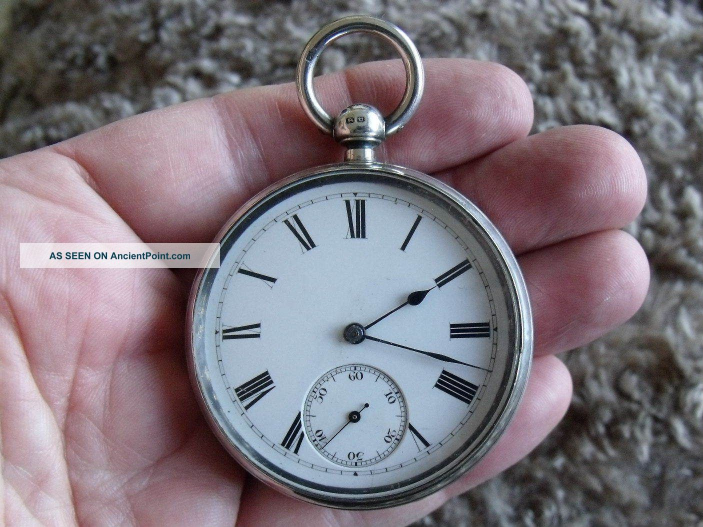 Silver English Lever Pocket Watch ' Martin Wilkinson,  Newark & Mansfield ' 1889 Pocket Watches/ Chains/ Fobs photo