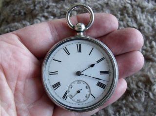 Silver English Lever Pocket Watch ' Martin Wilkinson,  Newark & Mansfield ' 1889 photo