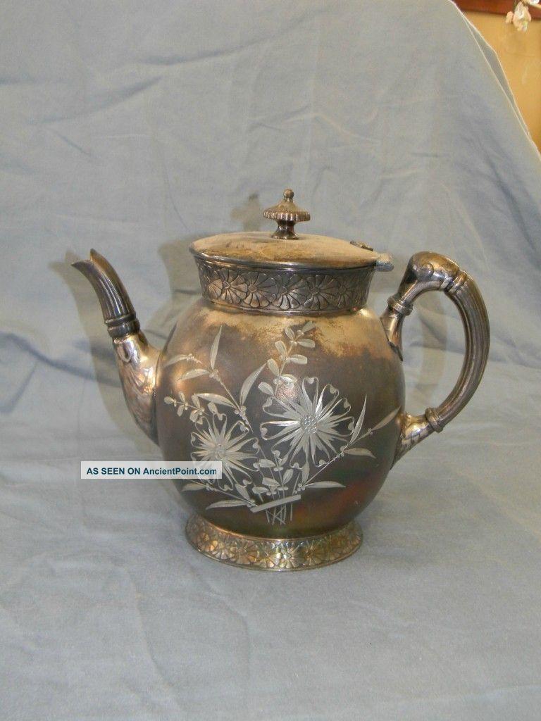 Antique Silver Plate Teapot,  Barbour Silver Tea/Coffee Pots & Sets photo