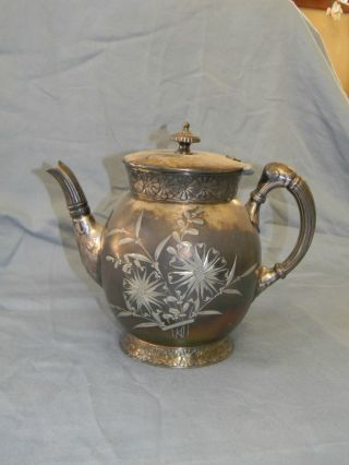 Antique Silver Plate Teapot,  Barbour Silver photo
