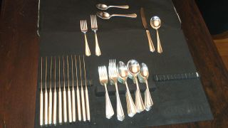 Oneida Hotel Plate Flatware 72 Piece photo