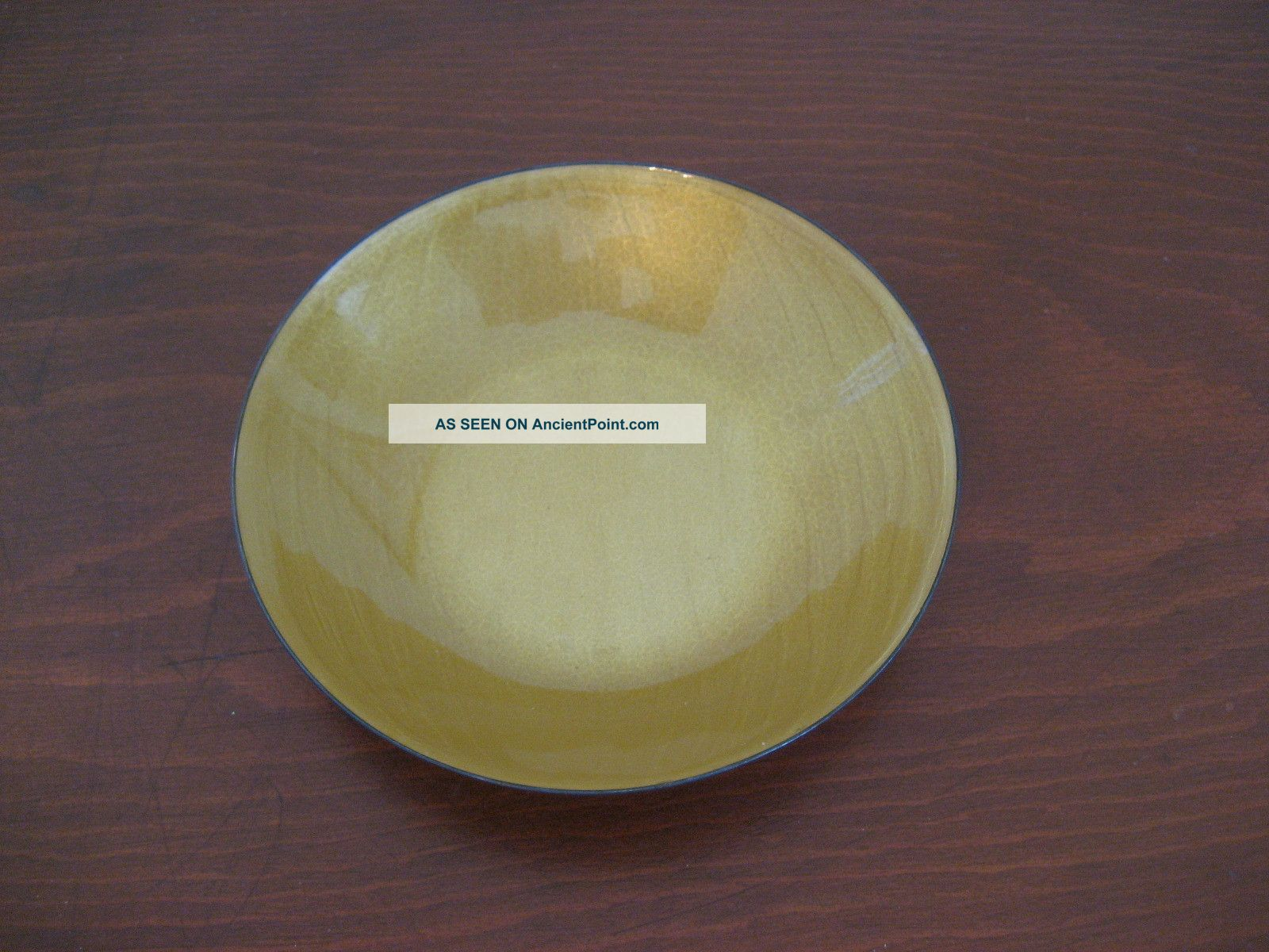 David Andersen Small Dish Bowl Yellow Enamel Guilloche On Sterling Silver Norway Dishes & Coasters photo