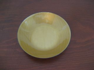 David Andersen Small Dish Bowl Yellow Enamel Guilloche On Sterling Silver Norway photo