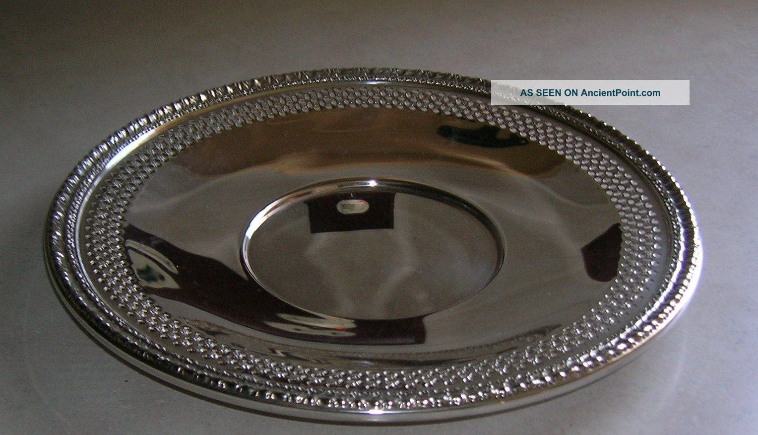 Vintage Reed & Barton Silverplated Underplate 10 1/2 Inches Dia - Ca 1960 ' S Plates & Chargers photo
