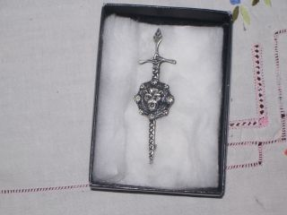 Charles Horner Kilt Pin.  Fully Hallmarked.  Anchor,  Lion,  And It Looks Like A J.  Impre photo