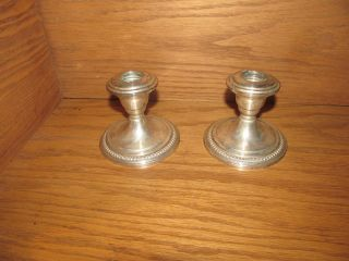 Vintage Sterling Silver Candle Stick Holders photo