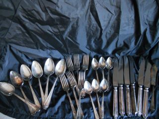 Wm A Rogers 25 - Piece Silverplate Flatware Set photo