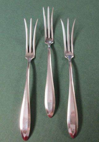 Antique Art Deco Silver 3 Berry Forks Patrician Community 1914 photo