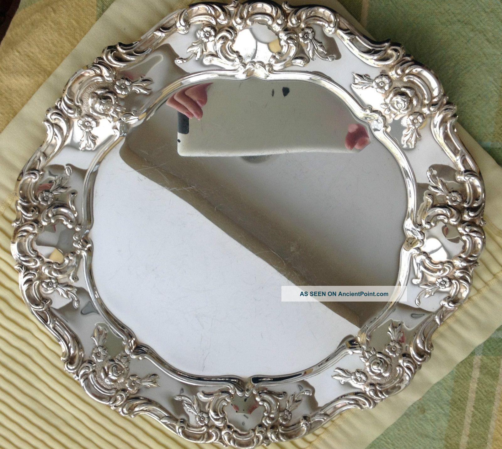 Towle Silverplate Bowl W/matching Platter Bowls photo