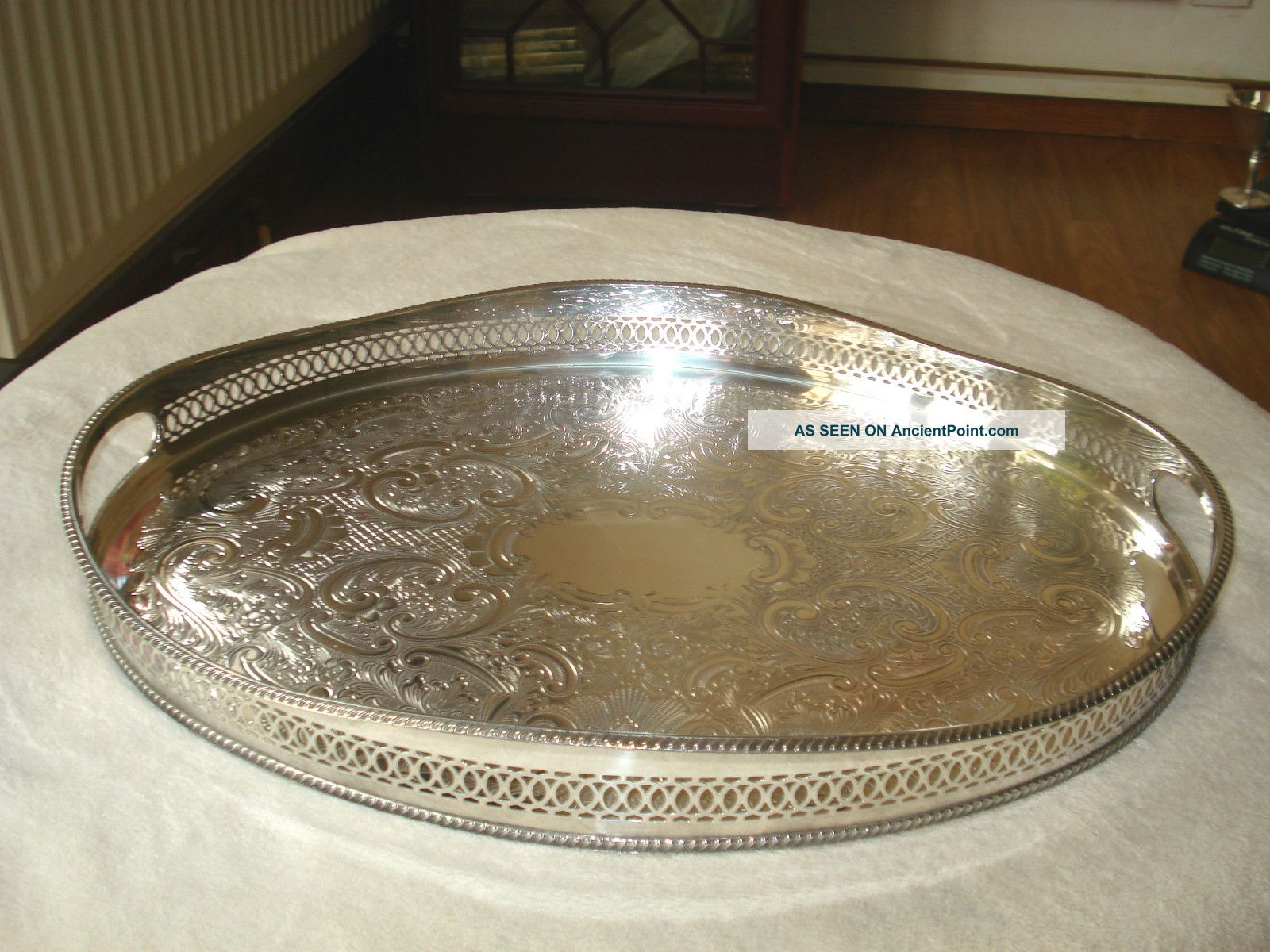 Silver Plated Gallery Tray Platters & Trays photo