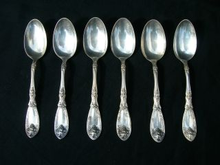 6 Rogers 1881 A1 Silver Plated Spoons.  Condition photo
