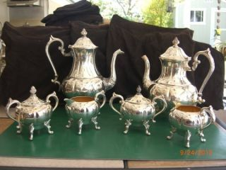 Sheridan Silver On Copper 6 Piece Coffee And Tea Service photo