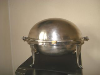 Silver Plated Roll Top Breakfast Dish photo