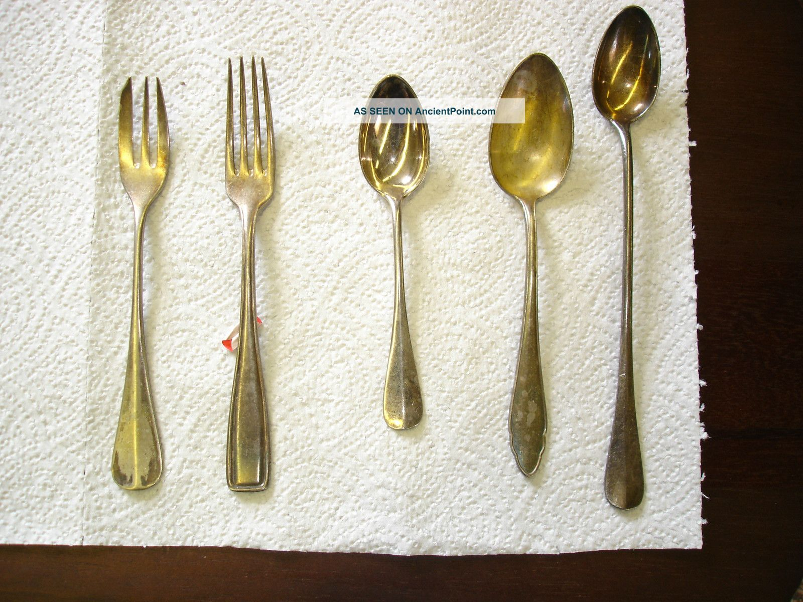 A Bunch Of Different Silver Plated Spoons,  Knife ' S And Fork ' S National photo