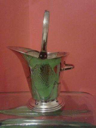 Yeoman Silver Plate Scuttle/sugar Bowl/ Flower Posy Holder photo