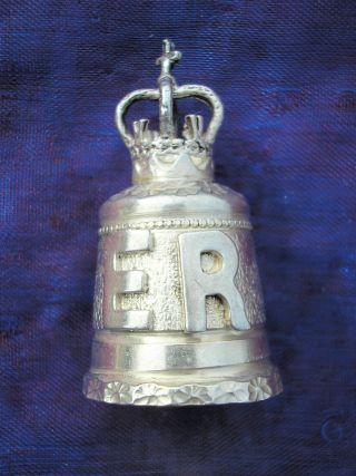 Lovely Hallmarked Silver Thimble Queen Elizabeth Ruby Jubilee Hmark B ' Ham 1992 photo