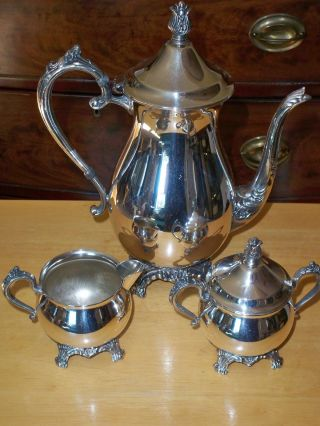 Rogers Silverplated 3 Piece Tea Service photo