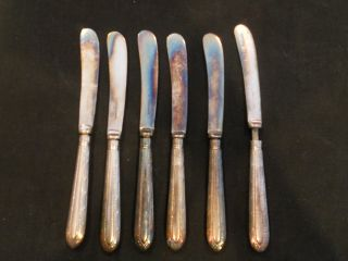 Set Of (6) Silverplate Vintage Knives By