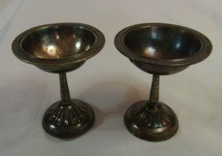 2 Antique Gorham Silver Soldered Plated Goblets Los Angeles Biltmore Hotel K - 2 photo