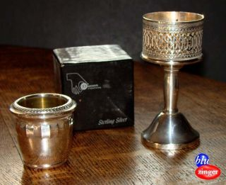 Vintage Duchin Creation Sterling Silver Toothpick + Candle Holder photo