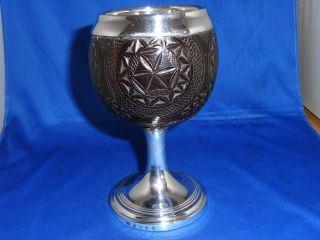 Scottish Slver & Coconut Goblet 1792 Edinburgh William Robertson photo