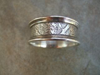 Solid Silver Napkin Ring - Birmingham 1904 photo