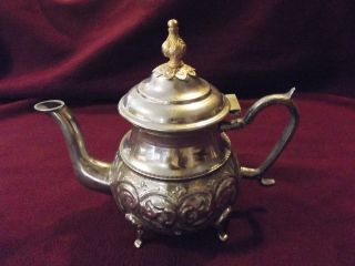 Antique Hallmarked Egyptian Silver Tea Pot Incredible Hand Made Piece @ Nr photo
