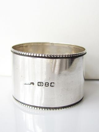 Antique Birmingham 1889 Sold Silver Napkin Ring photo