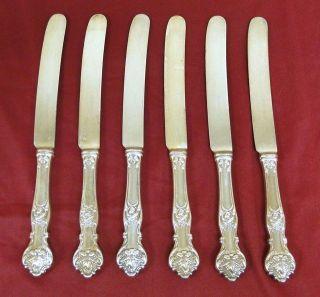 6 Lot Vintage 1847 Rogers Charter Oak Silver Plate Dinner Place Knife Knives photo