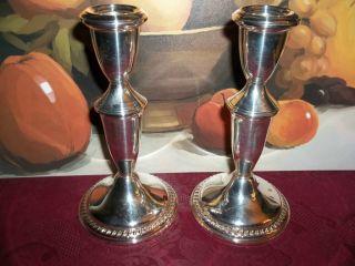 Sterling Silver Candlesticks Pair,  Birks, ,  576 Grams,  6+1/4