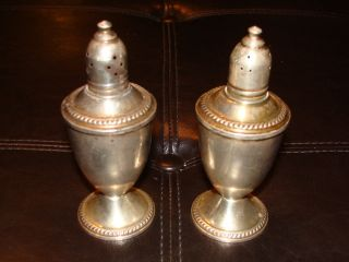 Duchin Creation Sterling Silver Weighted Salt & Pepper Shakers 9.  7 Ounces photo