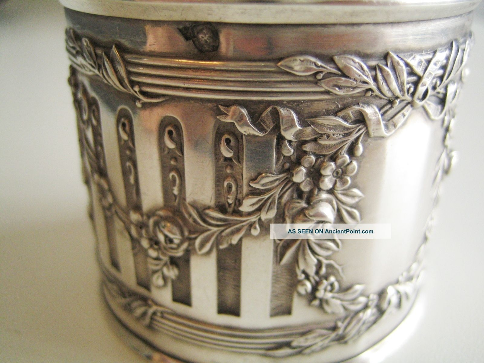 Antique French Silver Napkin Ring Louis Xvi France photo