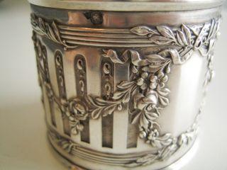 Antique French Silver Napkin Ring Louis Xvi photo