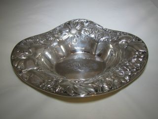 Gorham Sterling Floral Bowl photo