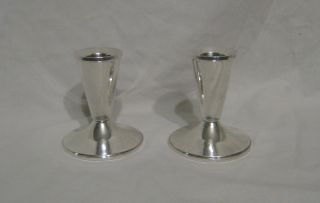2 Duchin Creation Sterling Silver Candlestick Holders photo