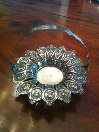 Unusual Albert Coles Medallion Pattern Basket Made Of 16 Teaspoons photo
