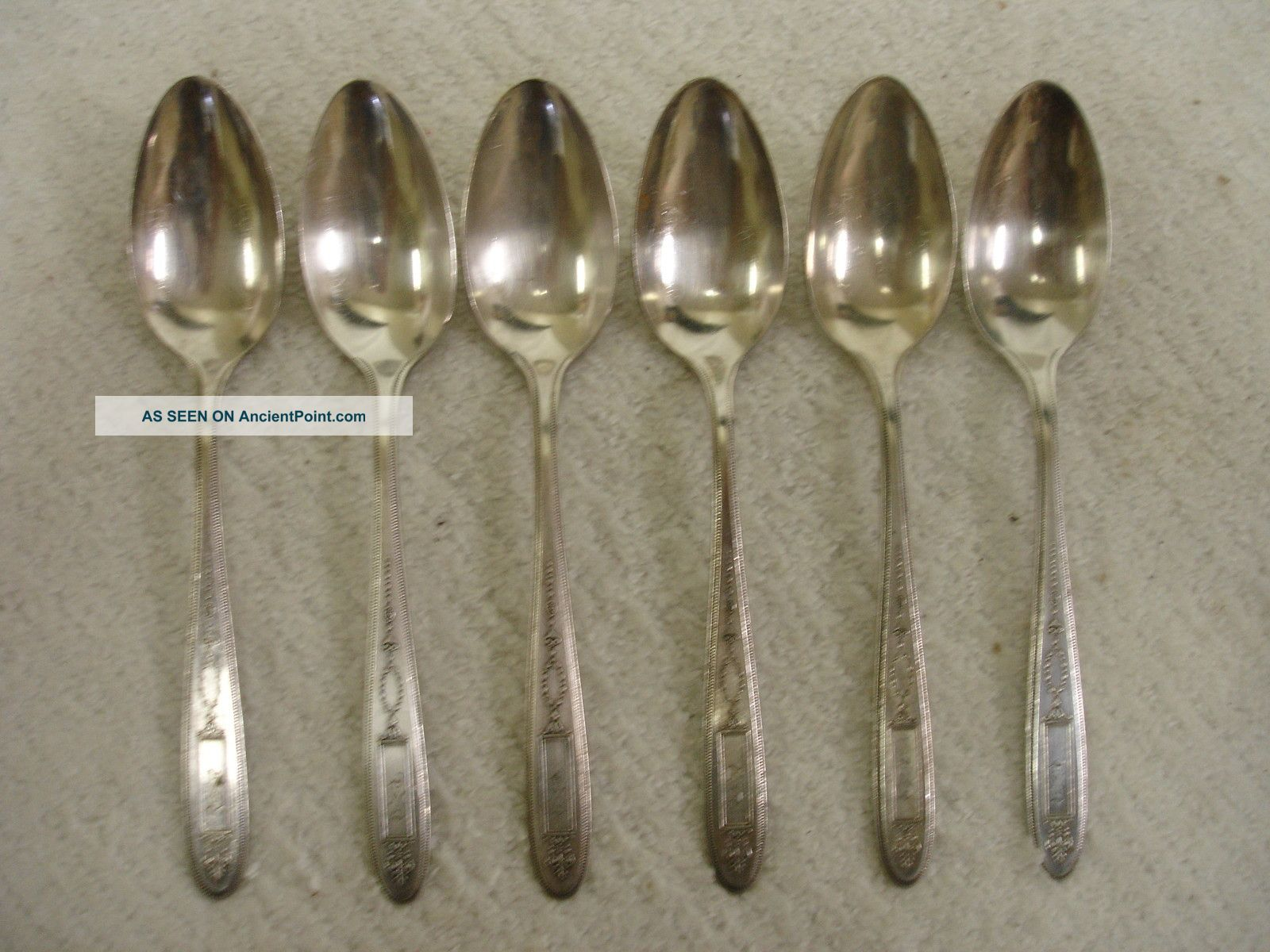 Set Of 6 Community Grosvenor Silverplate Flatware Tea Spoons 1921 Other photo