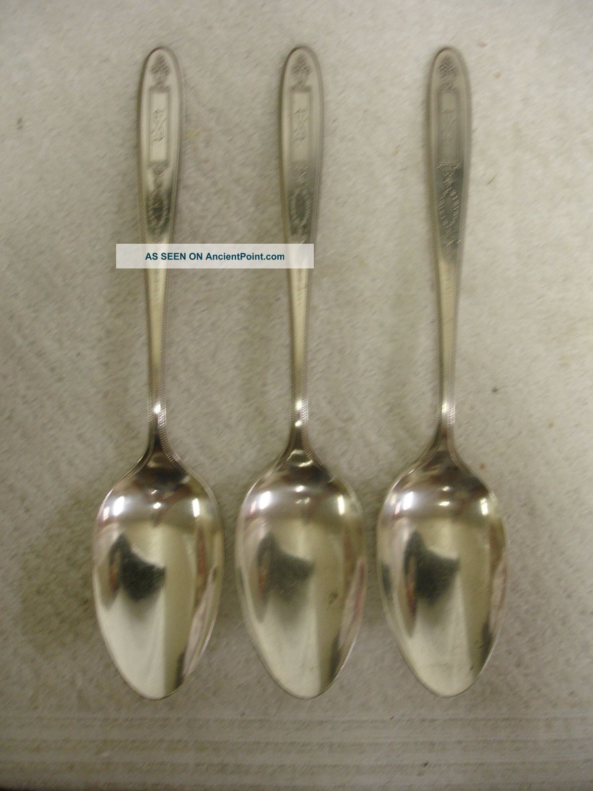 Set Of 3 Community Grosvenor Silverplate Flatware Serving Spoons 1921 Other photo