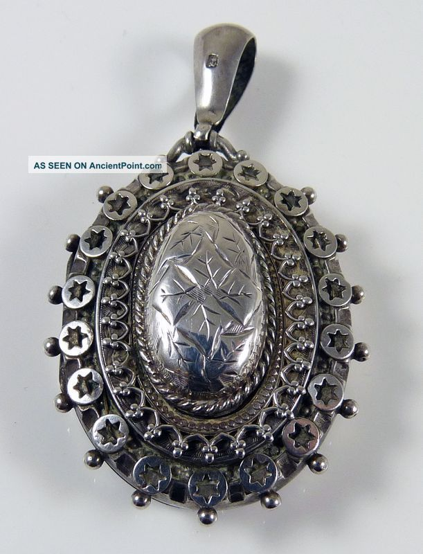 Sterling Silver Antique Locket Sterling Silver Locket