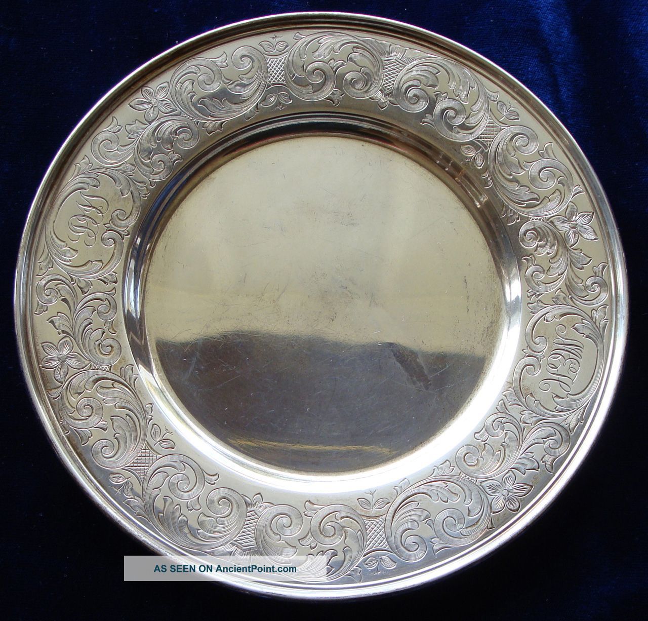 Fancy Spaulding & Co.  Sterling Silver Dessert Plate Plates & Chargers photo