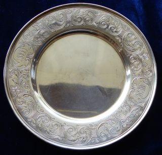 Fancy Spaulding & Co.  Sterling Silver Dessert Plate photo