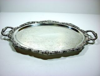 Poole Silverplate Footed Waiters Tray 110 photo
