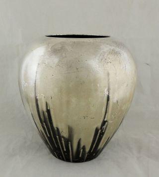 1920s Art Deco Wmf Silver Over Copper Vase photo